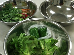 Salad Bar Preparation