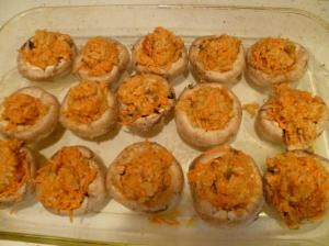 Gluten Free Pine Nut Stuffed Mushrooms