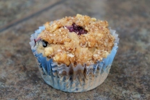 Blueberry Banana Almond Streusel Muffin