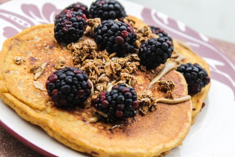 Spiced Butternut Squash and Walnut Pancakes