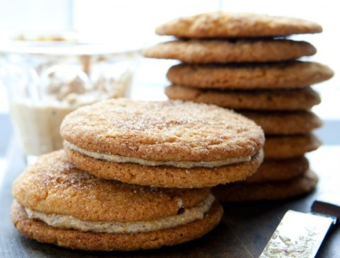 Silvana's Gluten-Free, Dairy-Free Snickerdoodle Cookie Sandwiches with Hazelnut Cream