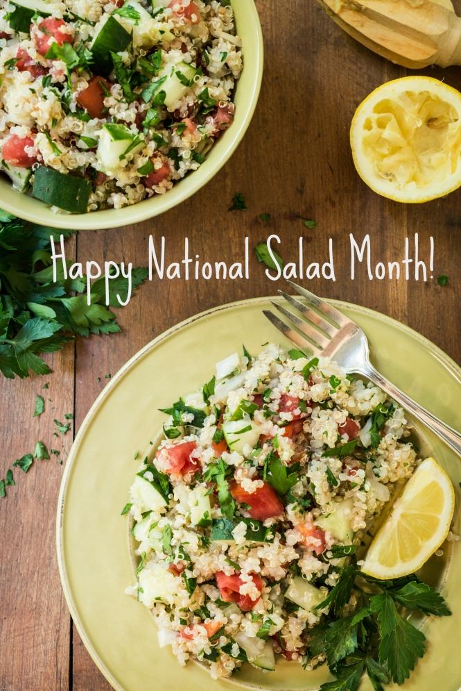 Quinoa Salad-Happy Salad Month