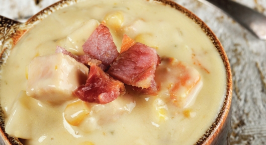 Chicken Corn Chowder with PureLiving Sprouted Flour