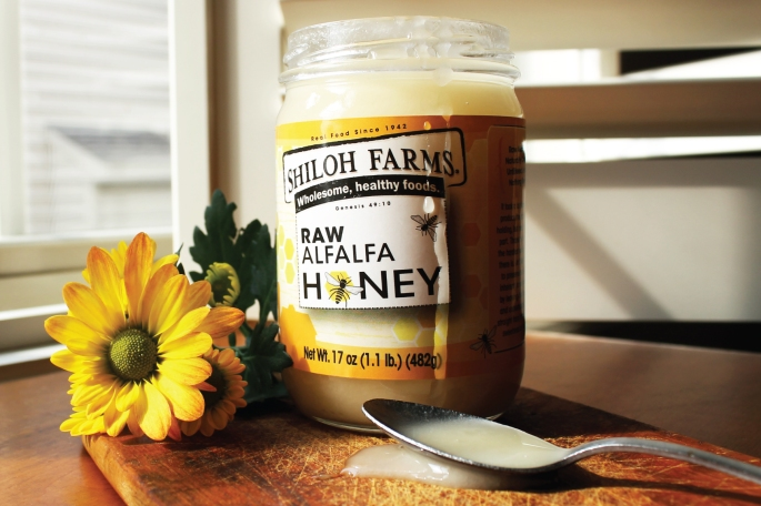 Shiloh Farms Raw Alfalfa Honey - Unfiltered, Unheated, & Naturally Crystalized