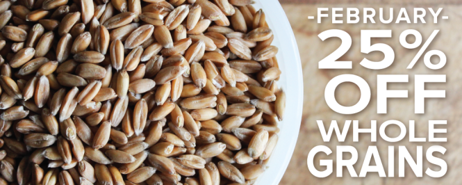 This February, enjoy 25% off Shiloh Farms Whole Grains!